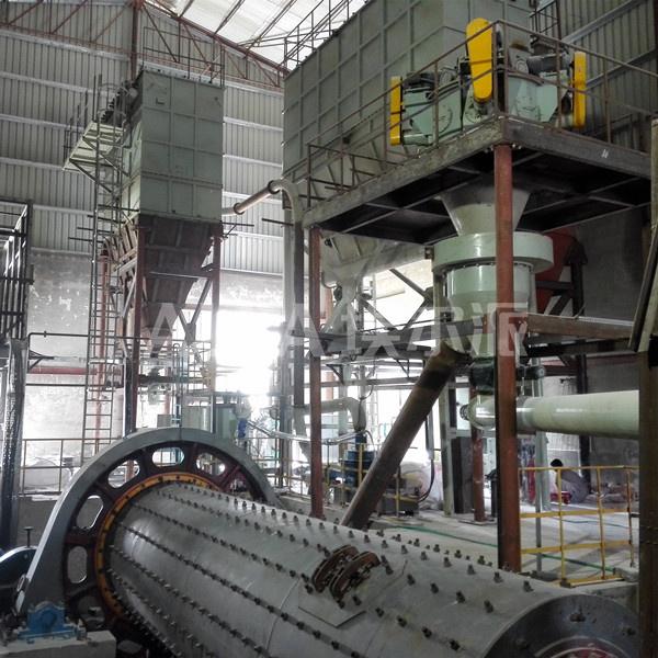 巴基斯坦碳酸钙球磨分级生产线